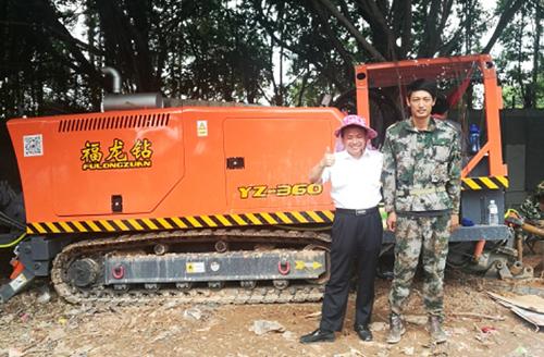 2018年4月份始福龙钻牌非开挖钻机为福清市国防光缆铺设贡献一份力量
