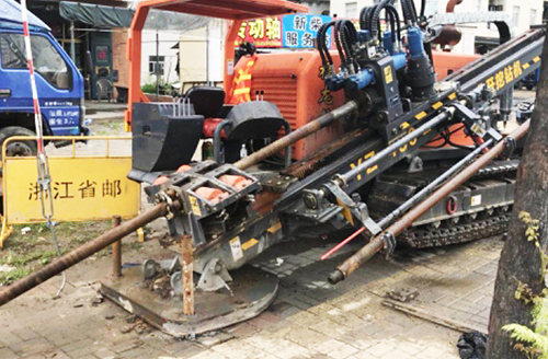 福龙钻钻机在浙江省市政工地作业